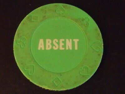 CASINO Chip Gaming Poker Marker Button: ABSENT