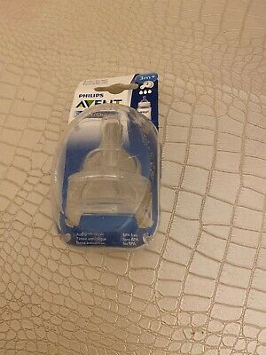 Philips Avent Classic Fast Flow Clear Nipples 3m+ BPA Free Anti-Colic New