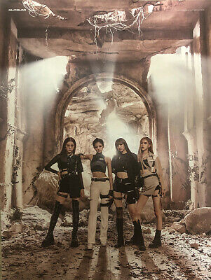BLACKPINK KILL THIS LOVE 2nd Mini Album OFFICIAL DOUBLE-SIDED FOLDED POSTER ONLY