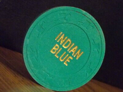 INDIAN BLUE CASINO NO CASH VALUE SHOWN hotel casino gaming poker chip