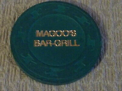 MAGOOS BAR-GRILL GOOD FOR ONE COCKTAIL hotel casino gaming poker chip