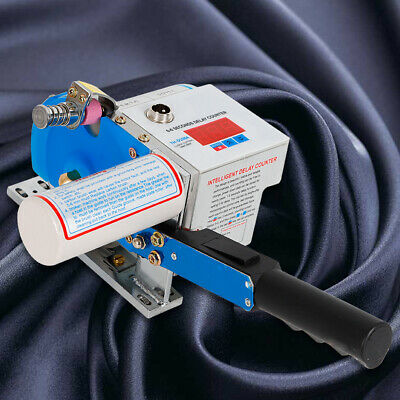 110V Motorized Fabric Cloth Cutter Clothing Tool + 105mm Blades Digital Counting