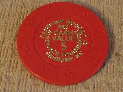 PAHRUMP NUGGET NO CASH VALUE BJ TOURNAMENT hotel casino gaming poker chip