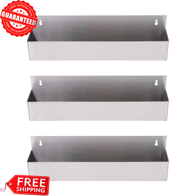 """3/Pack 22"""" Silver Stainless Steel Single Tier Commercial Bar Speed Rail Rack USA"""