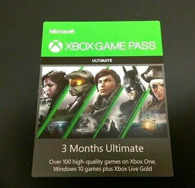 Microsoft Xbox Game Pass 3 Months Ultimate