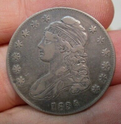 1835 United States Capped Bust Silver Half Dollar Very Fine Condition No Res