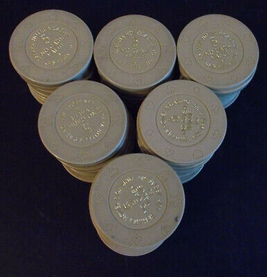 SAHARA HOTEL CASINO NCV hotel casino gaming poker chips ~ LOT OF 60 ~ Las Vegas