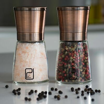 Premium Copper Salt & Pepper Mill Set - Shakers Grinder Set Boxed Kitchen