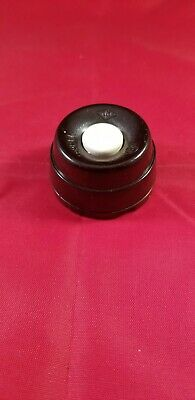 Vintage Brown Bakelite Door Bell Push Button Switch.