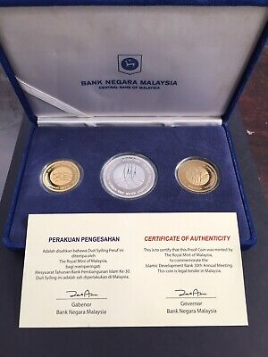 Malaysia 2005 IDB Gold ,Silver, Nordic Gold Proof Coins set with certificate