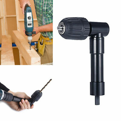 Right Angle Bend Extension Cordless Drill Attachment Chuck Key Adapter HL