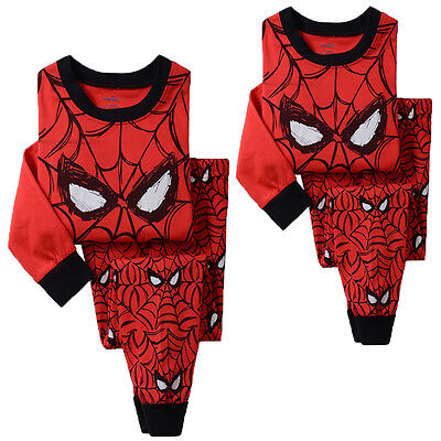 Cartoon Kids Toddler Baby Boy Girl Pajamas Pajamas Cotton Sets Sleepwear Clothes