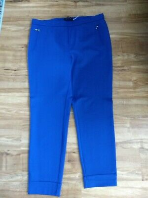 NWOT Ivanka Trump Ponte Knit Cuffed Ankle Pants in Royal Blue Size L
