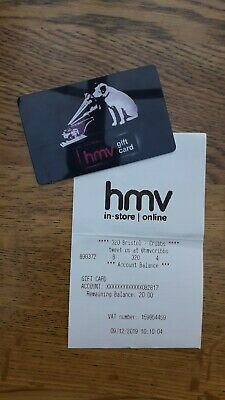 £20 HMV or Fopp Gift Card Voucher - valid till Dec 2021