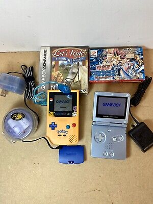 Gameboy Color Pokemon Edition battery Travel Pack GAME BOY ADVANCE SP PEARL BLUE