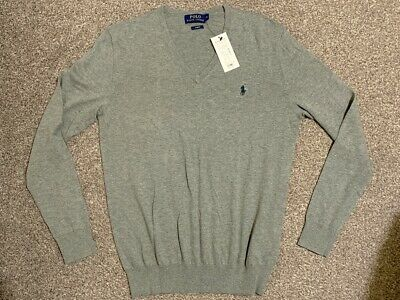 BNWT Polo Ralph Lauren Cashmere Blend Slim Fit Mens Knit Jumper |Gift Boxed | S