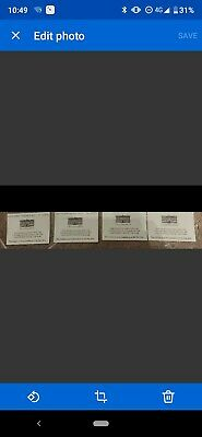 4 X Chatsworth House Car Park tickets vouchers - No expiry.£16 FV. Next day post