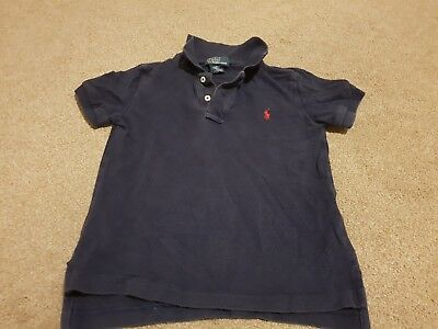 Ralph Lauren Children's Polo Shirt, Dark Blue/ Navy. VGC,Size 4.