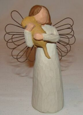 **Angel of Friendship Puppy Dog Willow Tree Figurine Susan Lordi Demdaco Mint VG