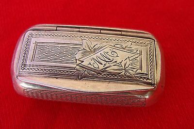 Rare Tabatiere Argent Massif France, Ancienne Tabatiere Argent Massif