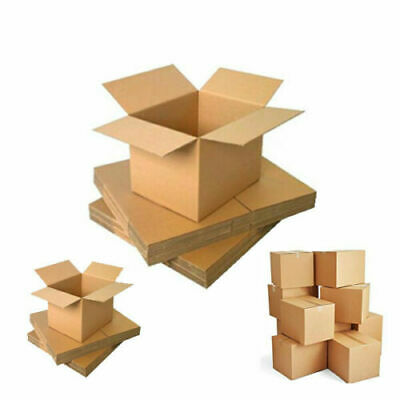 New Strong Single Wall Cardboard Storage Boxes Postal Mailing Packaging Cartons