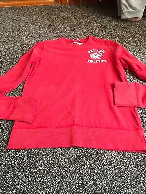 Boys Abercrombie And Fitch Distressed Long Sleeve Size Medium Age 9 Ish