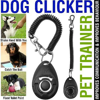 Dog Clicker Pet Dogs Puppy Training Clicker Trainer Teaching Tool
