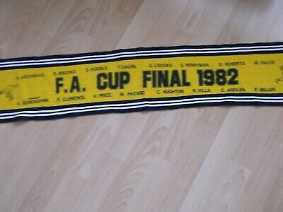 1982 FA cup final spurs football scarf