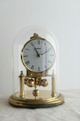 Vintage KUNDO Anniversarry/Torsion/400 day Clock With Glass Dome - Working