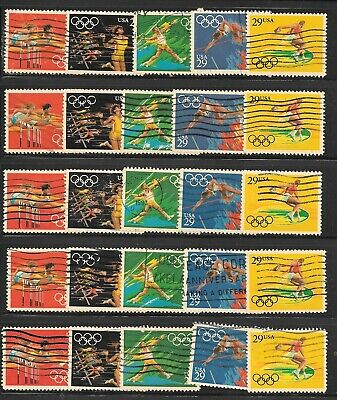 U S Stamps Used  2553 - 2557 Olympics One (1) Of These Vf Sets