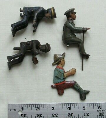 4 Antique Toy Drivers, 2 Cast Iron, 2 Tin-Plate