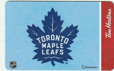 New Toronto Maple Leafs Tim Hortons Canada $0 Value Collectible Gift Card