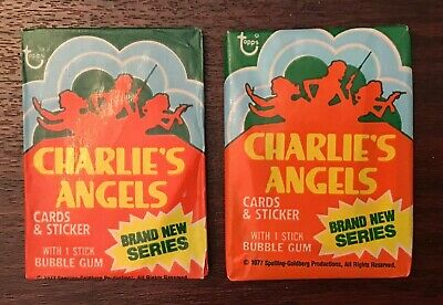 ONE - 1977 Topps CHARLIES ANGELS Series 4 Unopened Wax Pack
