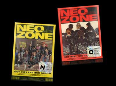 NCT 127 2nd ALBUM NCT #127 Neo Zone N+C VER. CD + PHOTOCARD + POSTCARD + POSTER