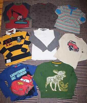 Bundle Boys 5 - 6 Years Long Sleeve Jersey Tops - 8 Items inc NEXT Mothercare
