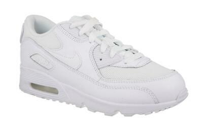 Kids Boys Girls Sports Running White NIKE AIR MAX 90 Mesh School Trainers Shoes