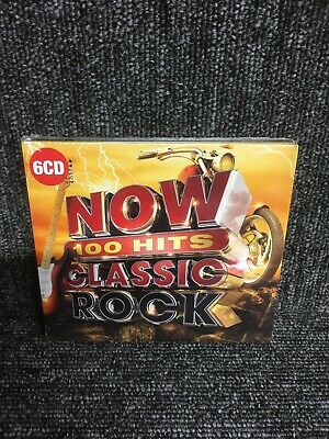 NOW 100 HITS - CLASSIC ROCK [6 CD] NEW & SEALED Box Set. Freepost In Uk