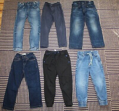Boys Age 3 - 4 Years Jeans Bundle 6 Pairs - Inc H&M George & Matalan