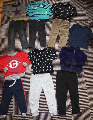 Boys 2 - 3 Years Outfit Bundle Trousers & Jumpers Tops 13 Items H&M M&S GAP