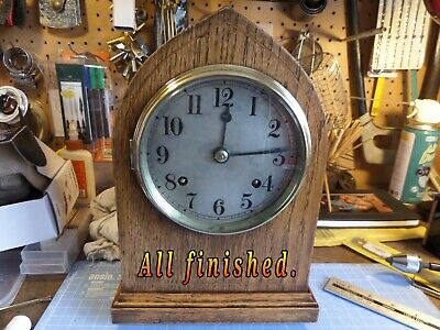 RESTORED, SERVICED BRITISH BEEHIVE MANTEL CLOCK Circa 1905 117 photos of work