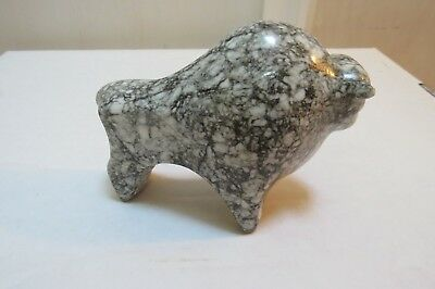Bison buffalo stone carving figurine USSR-Russian 1942