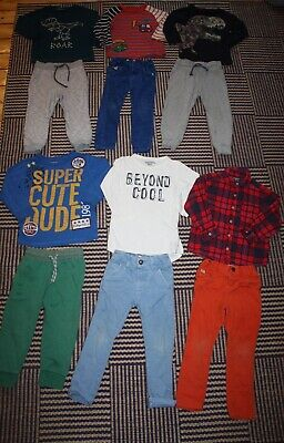 Boys 2 - 3 Years NEXT Bright Outfit Bundle - 13 Items Trousers Tops & Shirt