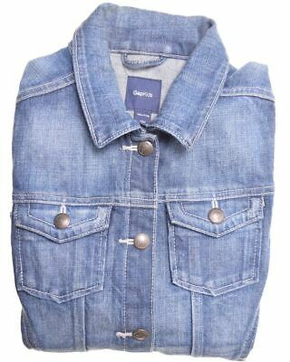 GAP Girls Denim Jacket 11-12 Years 2XL Blue Cotton  X209