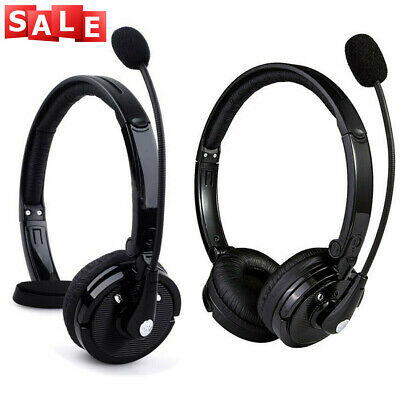 Over Head Boom Mic Bluetooth Noise-Canceling Headset Wireless For Trucker Driver