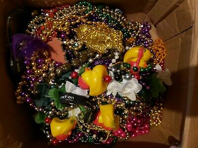 Mardi Gras Beads Necklaces box lot Authentic New Orleans assorted