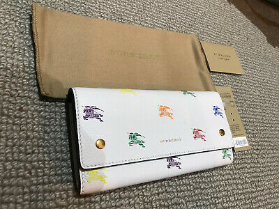 BURBERRY Continental Hollee Leather Wallet | White 100% Authentic RRP £550