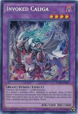 Invoked Caliga FUEN-EN027 Secret Rare 1st NM Yugioh