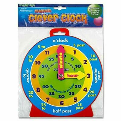 Teaching Clock Childrens Learn To Tell The Time Boys Girls Educational Toy New