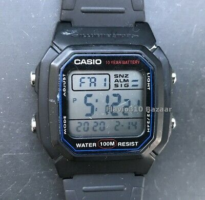 CASIO W-800H (3240) Illuminator Watch Alarm Chronograph 36mm case