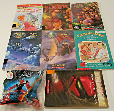 Lot of 7 Scholastic Childrens Chapter Books Kids Reading ~ Magic School Bus ~Toy